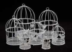 Клетка для декора белая с птичкой 7 см - Инструменты для канзаши