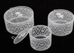 Клетка- шкатулка для декора белая ажурная 9 см - Инструменты для канзаши